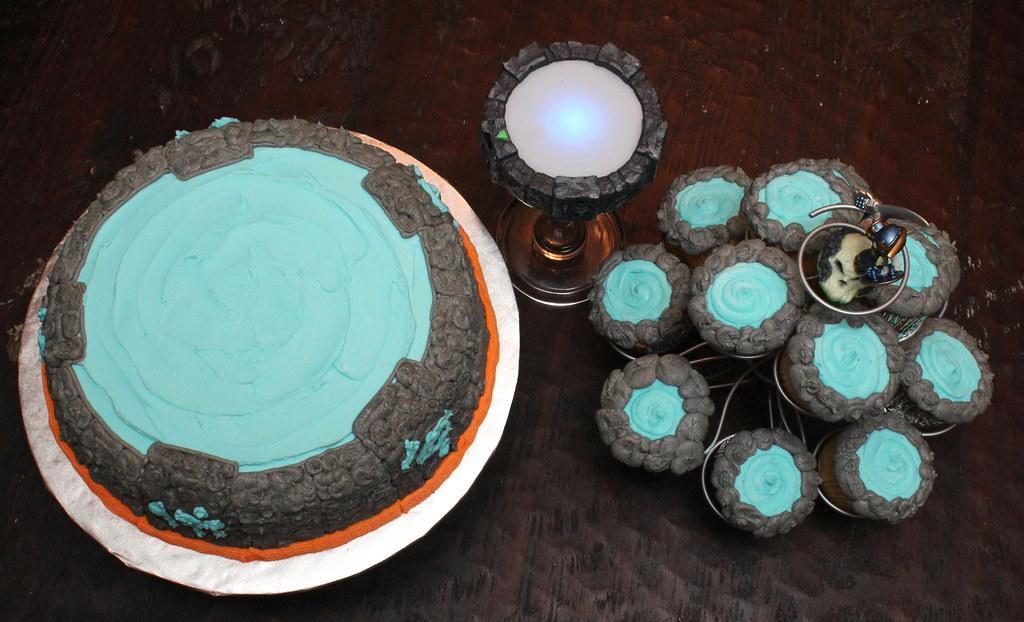 Skylanders Portal Cake and Cupcakes booturtle Flickr