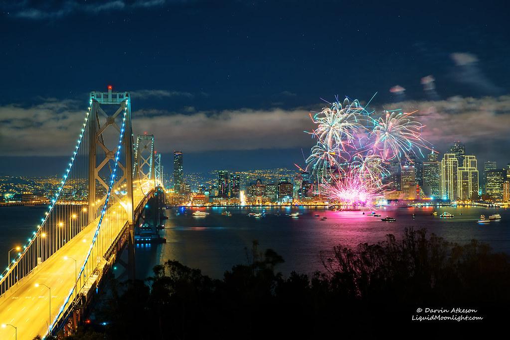 Happy New Year 2013 San Francisco Fireworks Display