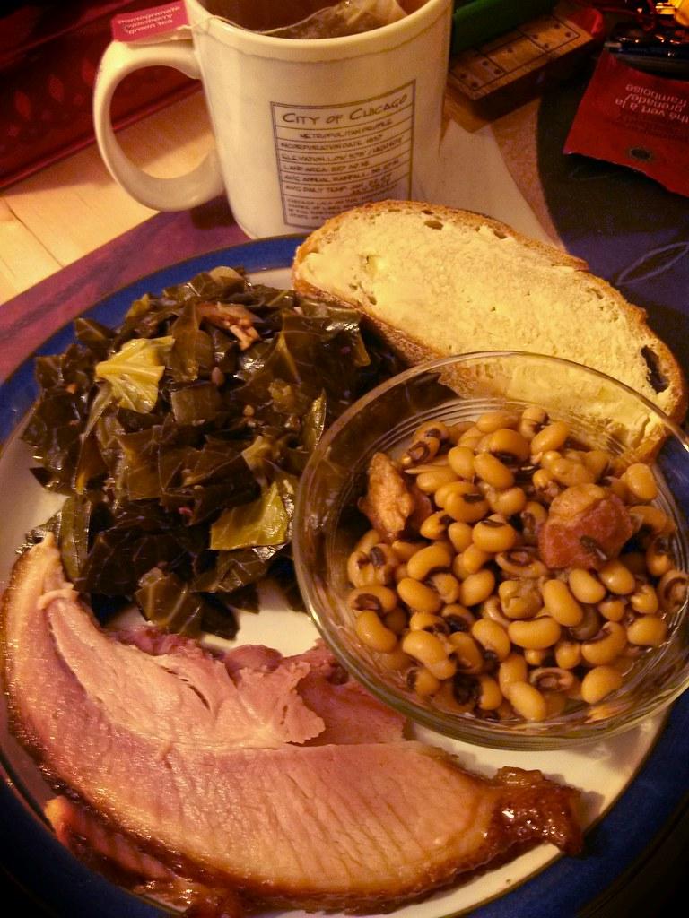 New Year's Day dinner | Collard greens, black-eyed peas ...