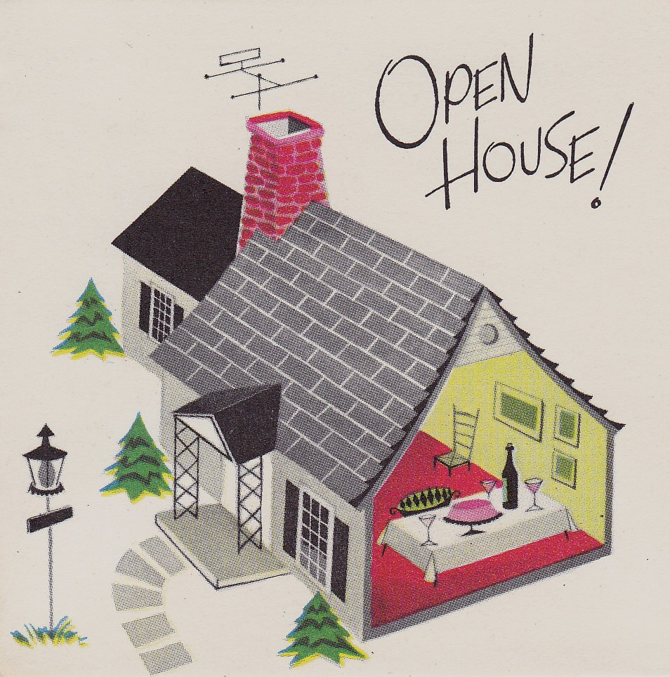 Vintage Norcross Open House Party Invitation 1950s | Flickr