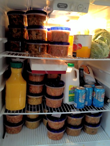 This is my fridge. EVERYONE IS GETTING SOUP. #soupmadness | by Chebutykin