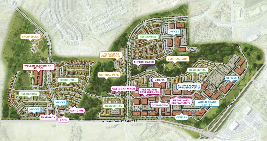 One Loudoun Vision- Site Map | Site plan of the new mixed ... One Loudoun