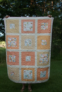 soft orange squares | by Leigh - leedle deedle quilts