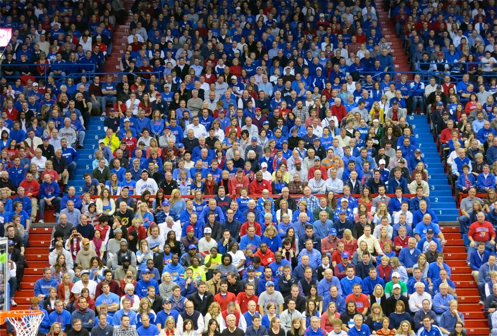basketball crowd | allen fieldhouse, university of kansas ...