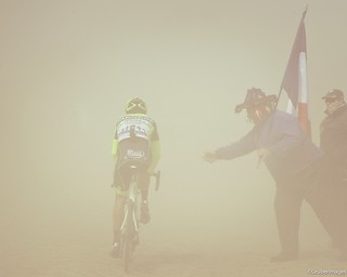 Neon in the fog | by Competitive Cyclist Photos