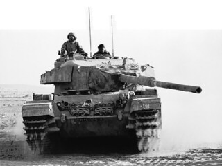 Israeli Tank in Sinai | by The Central Intelligence Agency