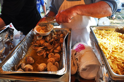 Serving Up Clams, Peace River Seafood's 10th Anniversary Party, Punta Gorda, Fla., Feb. 2, 2013 | by JenniferHuber