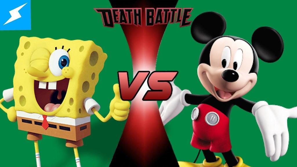 deathbattle spongebob vs mickey mouse x titan flickr