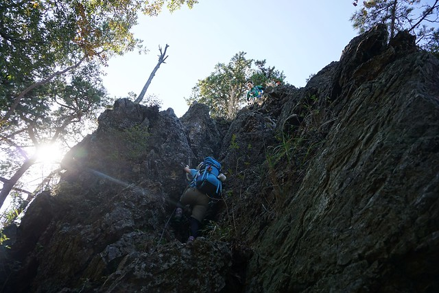 古賀志山の岩登り