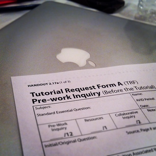 Adapting the #avid tutorial request form to an online web … | Flickr