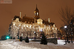 City hall under the snow - Old Montreal