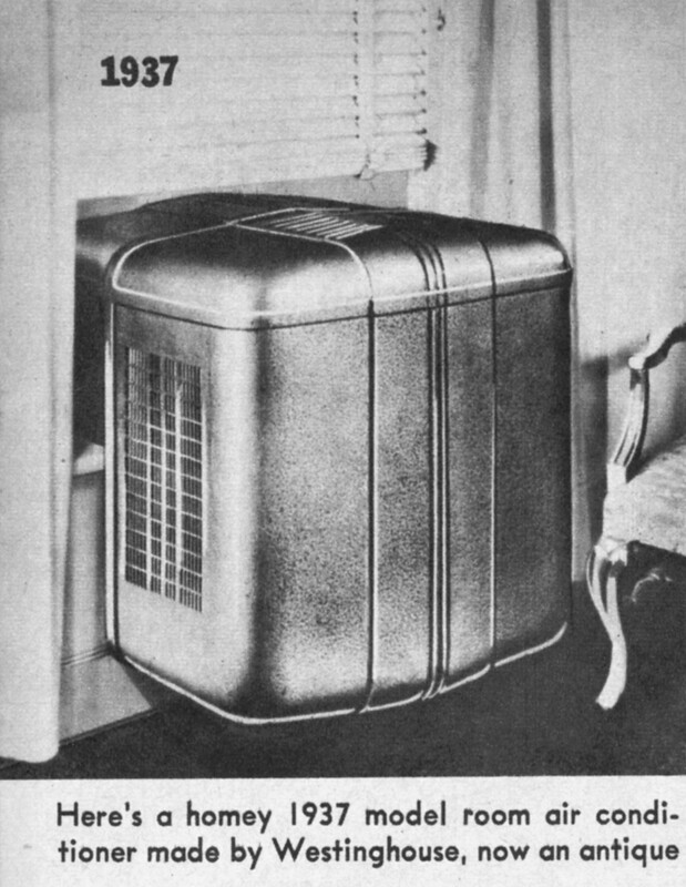 1937 Westinghouse Window Room Air Conditioner This Unit