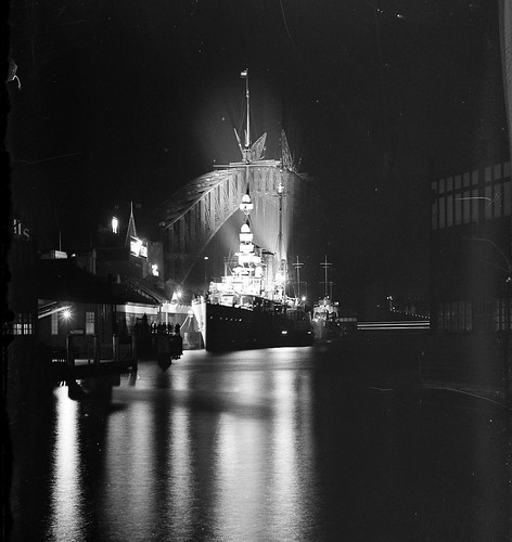 WWII ALLIES: HNLMS JAVA, EVERSTEN and DE RUYTER , pre-WWII at Cirtcular Quay, Sydney Oct 1930 - Samual J. Hood [1872-1953] ANMM. | by Kookaburra2011