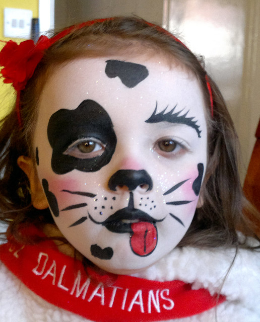 dalmatian face painting and costume flickr photo sharing