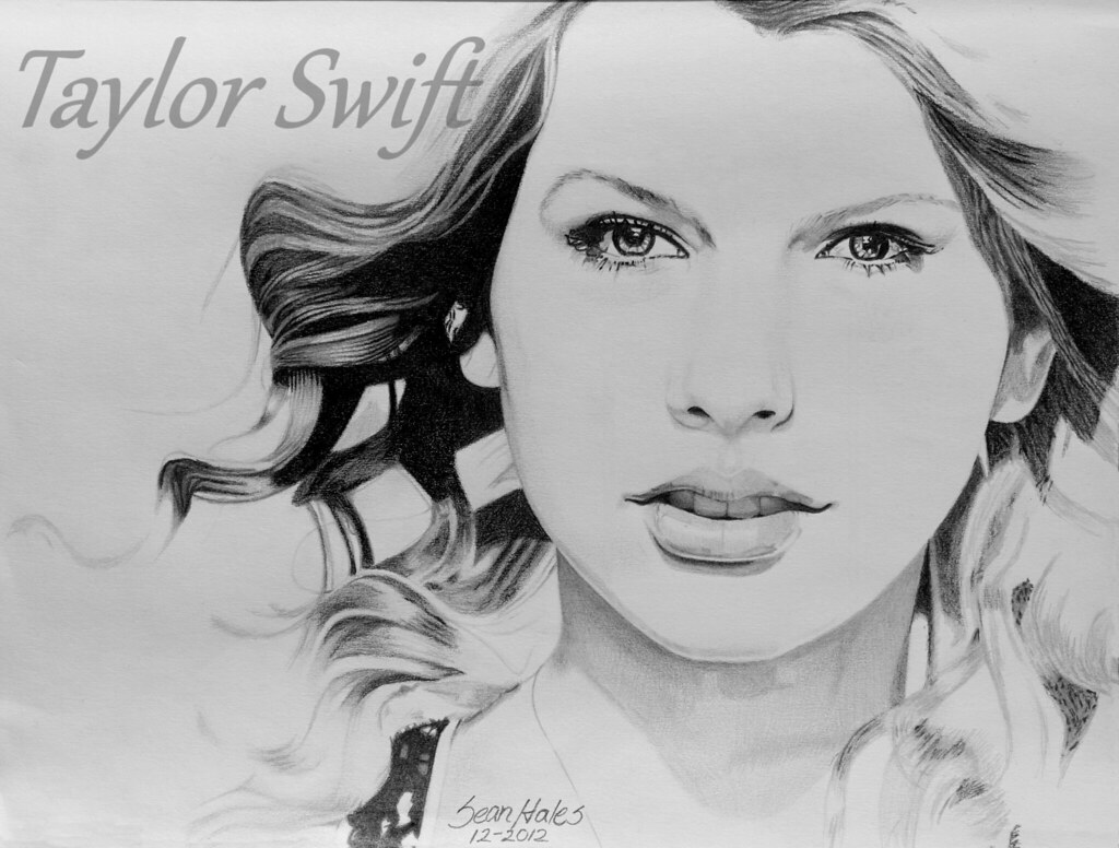 Taylor swift pencil drawing sean hales flickr