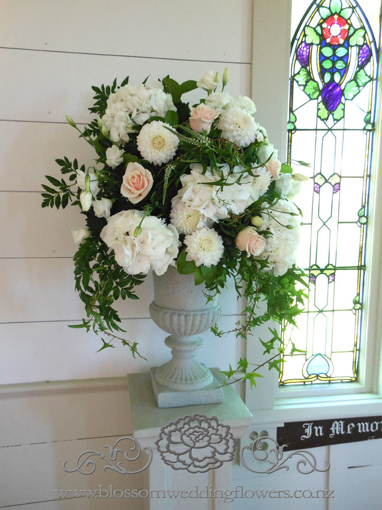 Vintage Wedding Ceremony Flower Arrangements Urns Floral A Flickr