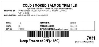 RECALLED - Procesadora de Productos Marinos Delifish S.A. | by The U.S. Food and Drug Administration