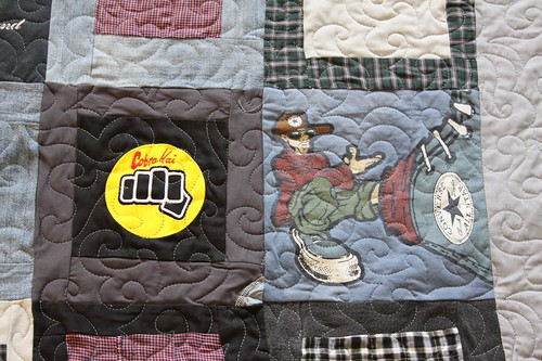 Memory Quilt from Clothing by Alix Joyal | by Mamaka Mills Quilts