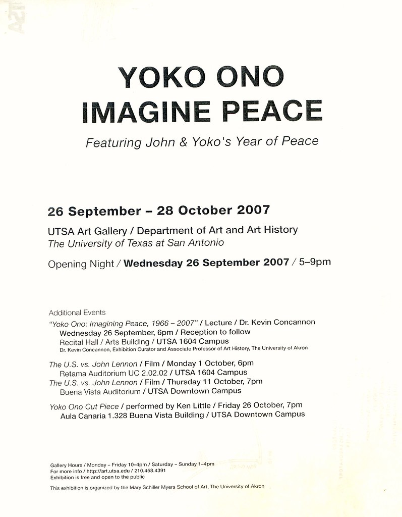 art history yoko Download past episodes or subscribe to future episodes of the art history babes by recorded  work of one of their favorite art babes, yoko ono and share.