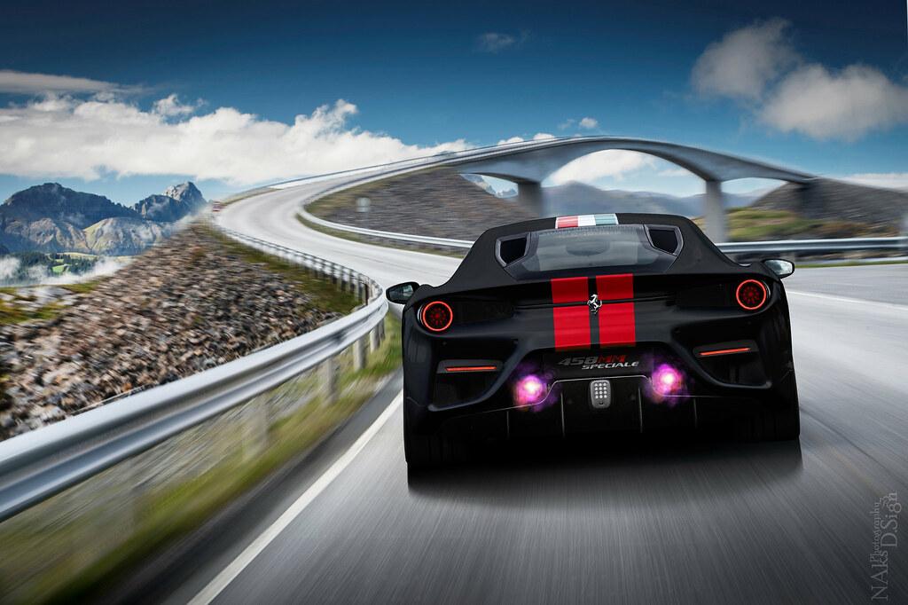 Matte Black Ferrari 458 Mm Speciale Original Taken By Ferr Flickr