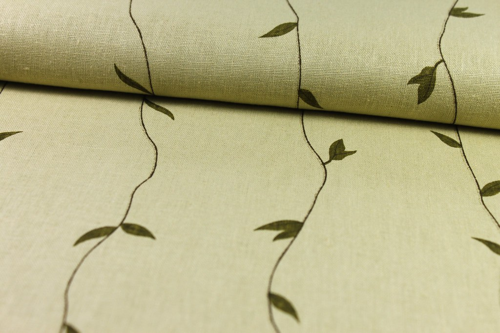 Leinen Blätterranke