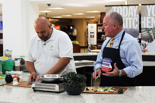 Chef Jonathan Bardzik (left) with Farm Service Agency (FSA) Administrator Val Dolcini (right)