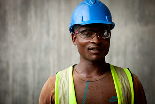 Construction worker for the Panama Canal expansion project | by World Bank Photo Collection