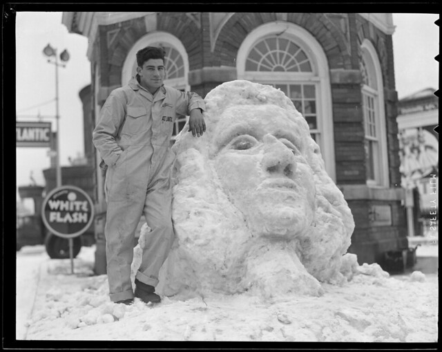 Atlantic oil worker with giant snow face | Flickr - Photo ...