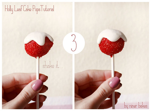 Holly Leaf Cake Pops TUTORIAL - step by step | by niner bakes