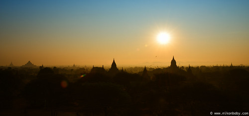 Sunrise Over Bagan | by  www.nikonbaby.com