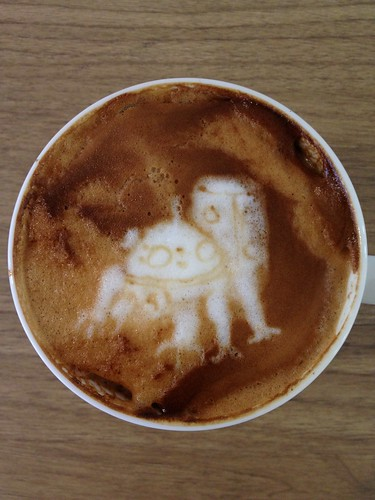Today's latte, Tachikoma from Ghost in the Shell. | by yukop