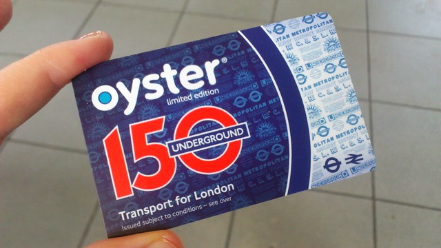 Limited Edition Oyster card for 150th London Underground Anniversary | Flickr - Photo Sharing!