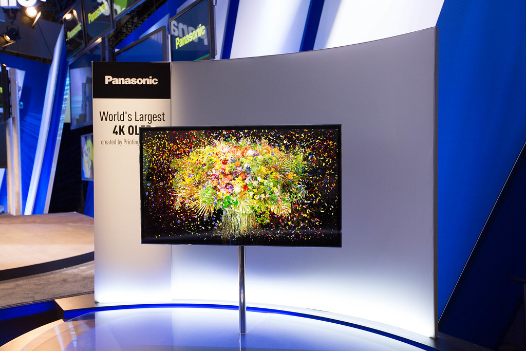 Panasonic's 4K OLED looked great, and showed some awesome