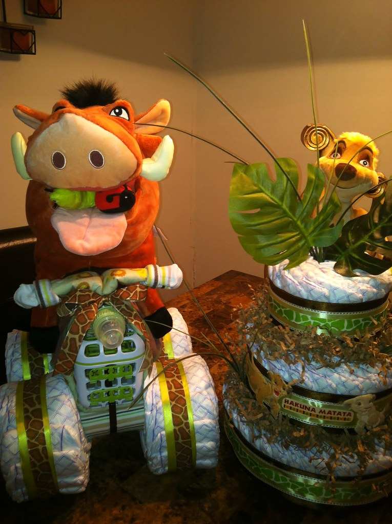 Lion King Diaper Creations Traditional Diaper Cake And