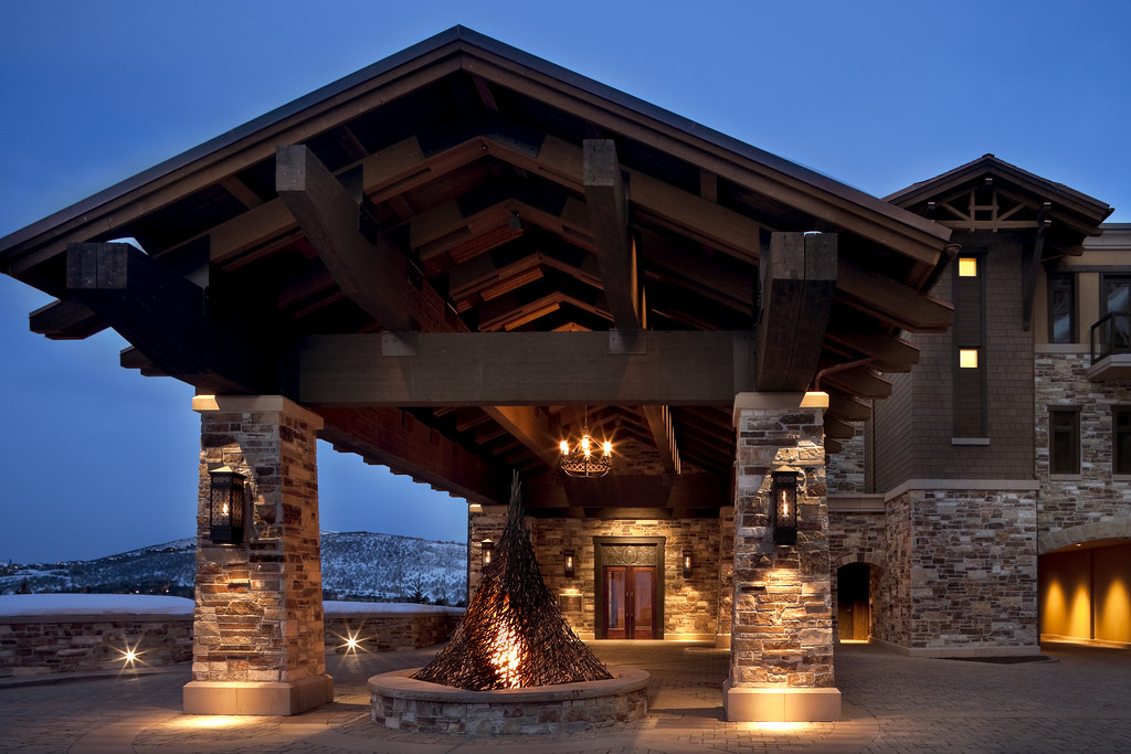 The st regis deer valley lower resort porte cochere flickr for What is a porte cochere