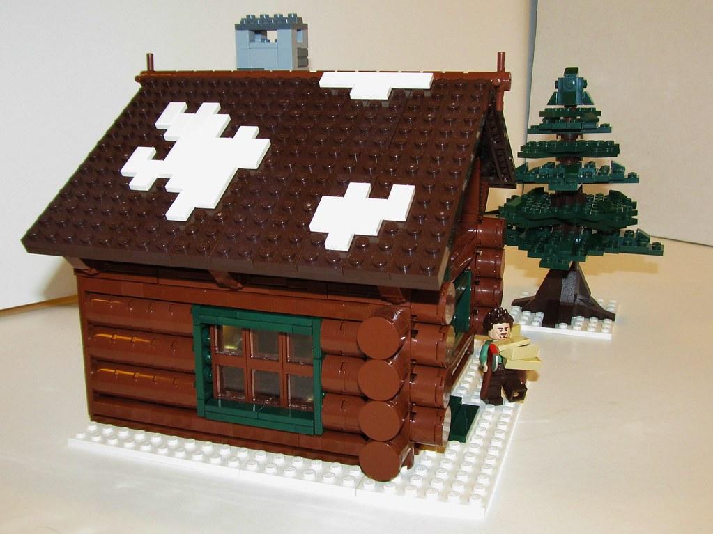Winter village log cabin etzel87 flickr for Log cabin portici e ponti