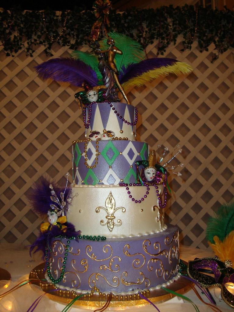 Mardi Gras Wedding Cake | Sarah Orr | Flickr