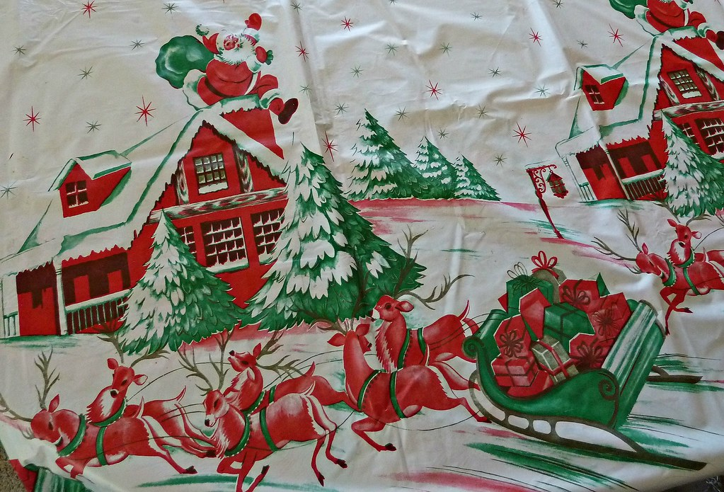 vintage christmas tablecloth by missconduct