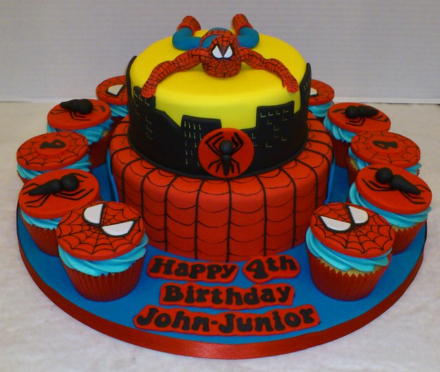 Spiderman cupcake cake walmart - photo#24