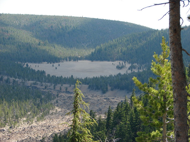 Pumice Flat and the Big Obsidian Flow from the Crater Rim Trail
