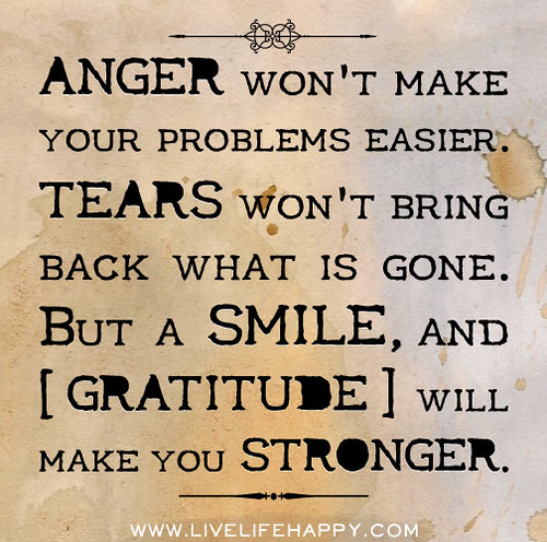 Anger Issues Quotes: Anger Won't Make Your Problems Easier. Tears Won't Bring B