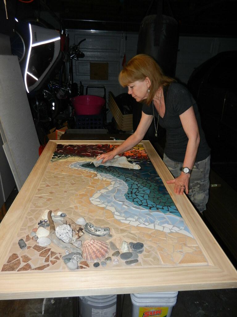 Wip Drake S Beach Shoreline Mosaic 3 X 5 Mixed Media