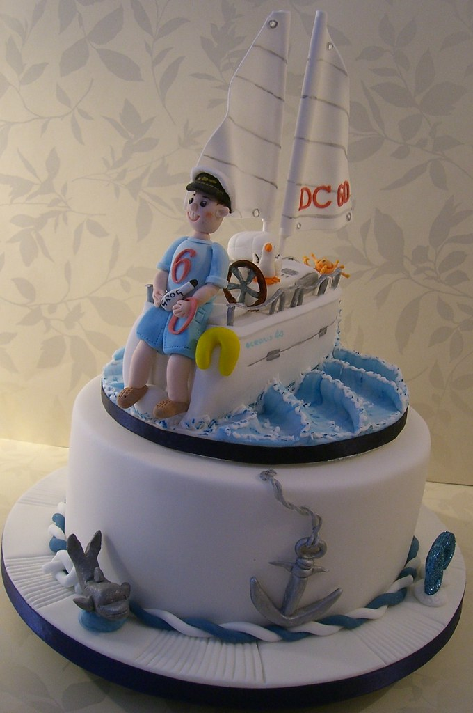 Yacht Cake for a 60th Birthday A birthday cake for my ...