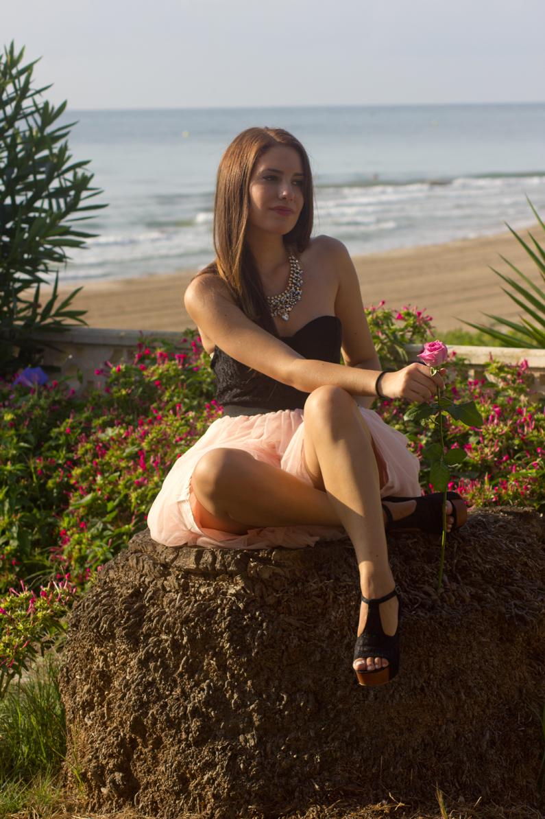 vestido VIPme tacones OASAP HEELSANDROSES Elisabeth Oviedo blog moda vestido palabra de honor falda de vuelo rosa (6)