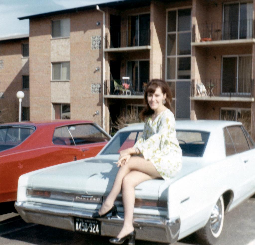 First Ever Car >> 19700402 - Mom's 23rd birthday - Mom, 1964 Pontiac LeMans … | Flickr