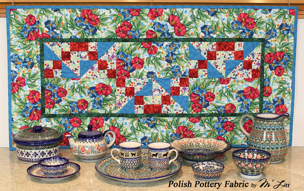 Polish Pottery Fabric By M Liss Continuing With My Make