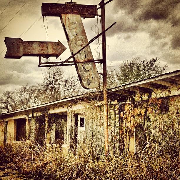 Abandoned, Between Flatonia And Waelder, Texas, On Old Spa