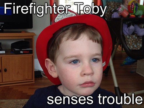 Firefighter Toby senses trouble. #toddlerfidalgo | by Paul Fidalgo