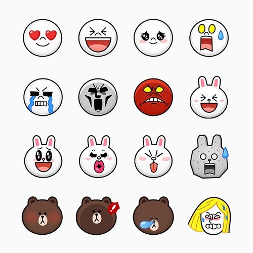 All new LINE Character Emoji, available on LINE App Versio ...