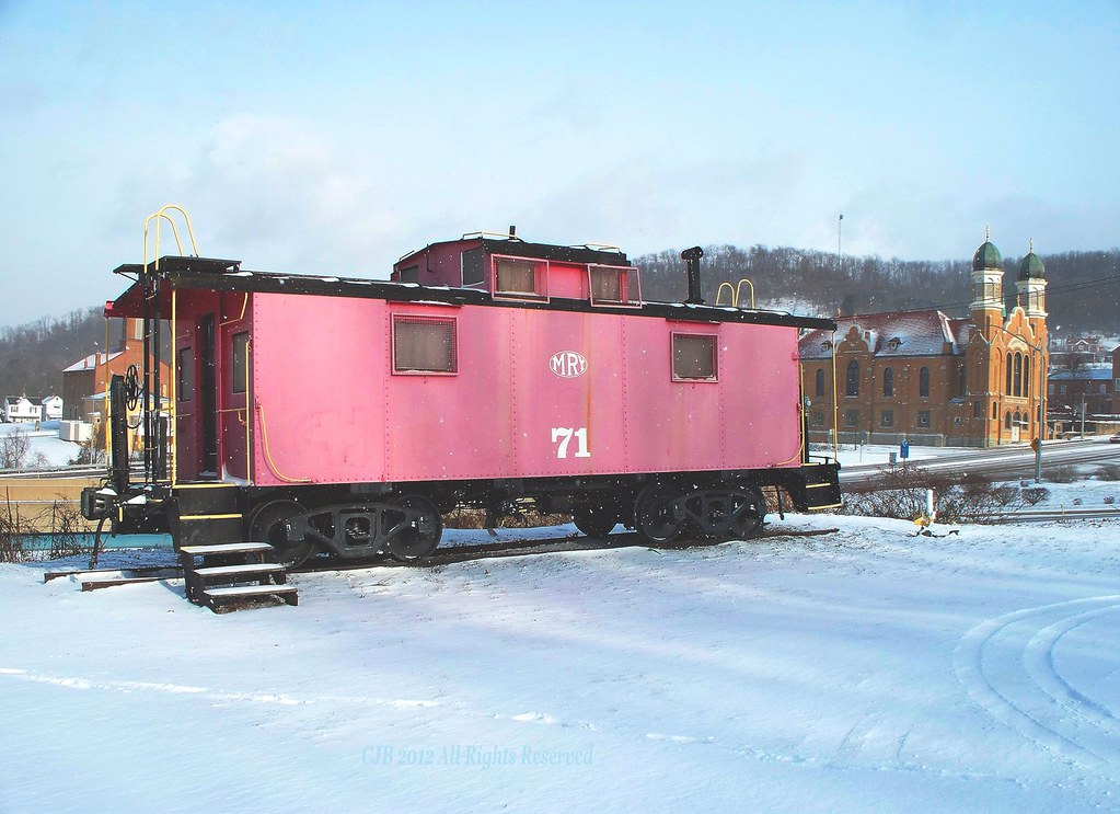 mga 71 winter stationary caboose display in brownsville p flickr